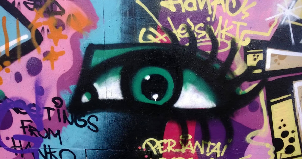 Graffiti of an eye