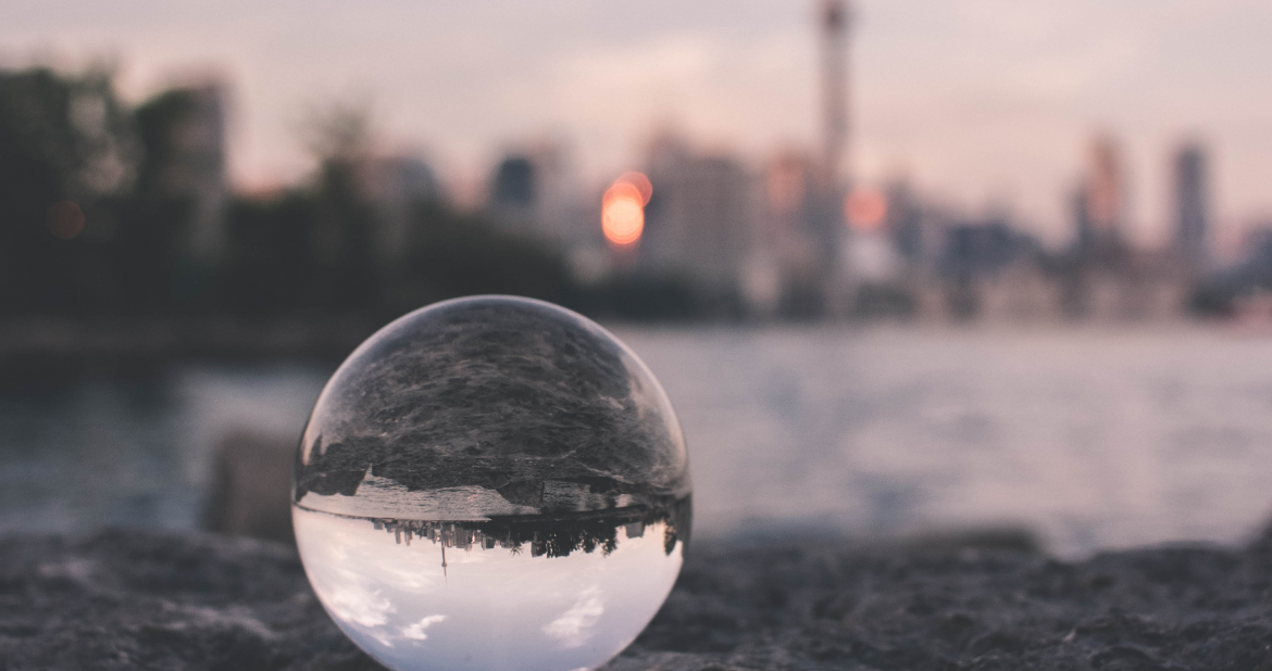 Photo of a glass ball